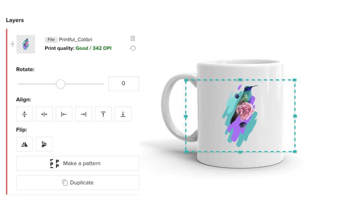 Création de tasse personnalisée avec le Créateur de design