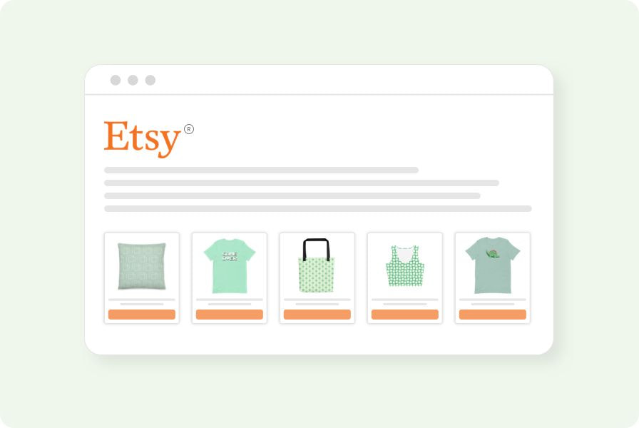 Create an Etsy® store with Printful