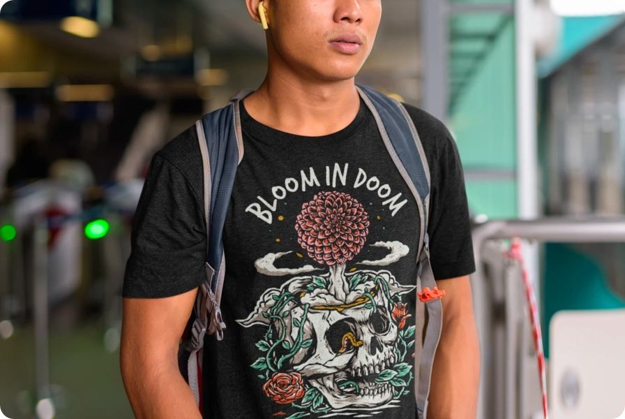 black shirt design