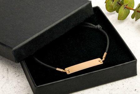 custom silver string bracelet