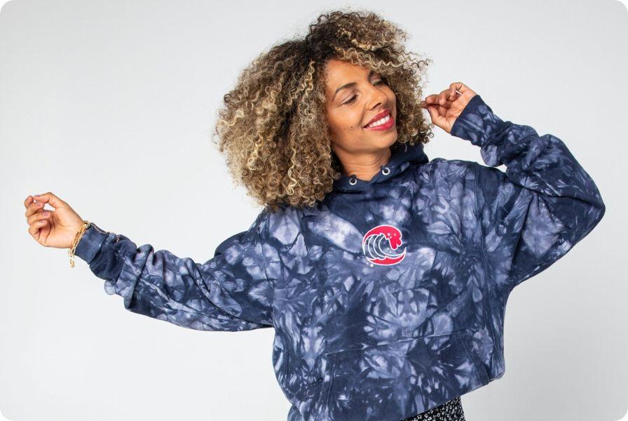 custom print and embroidery hoodie