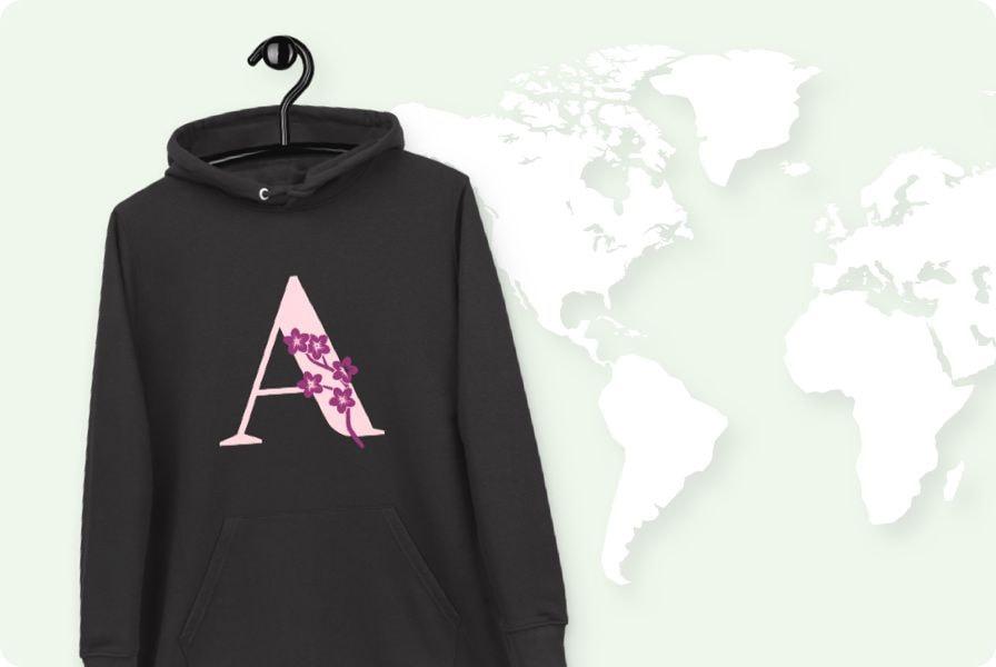 Worldwide shipping with Printful