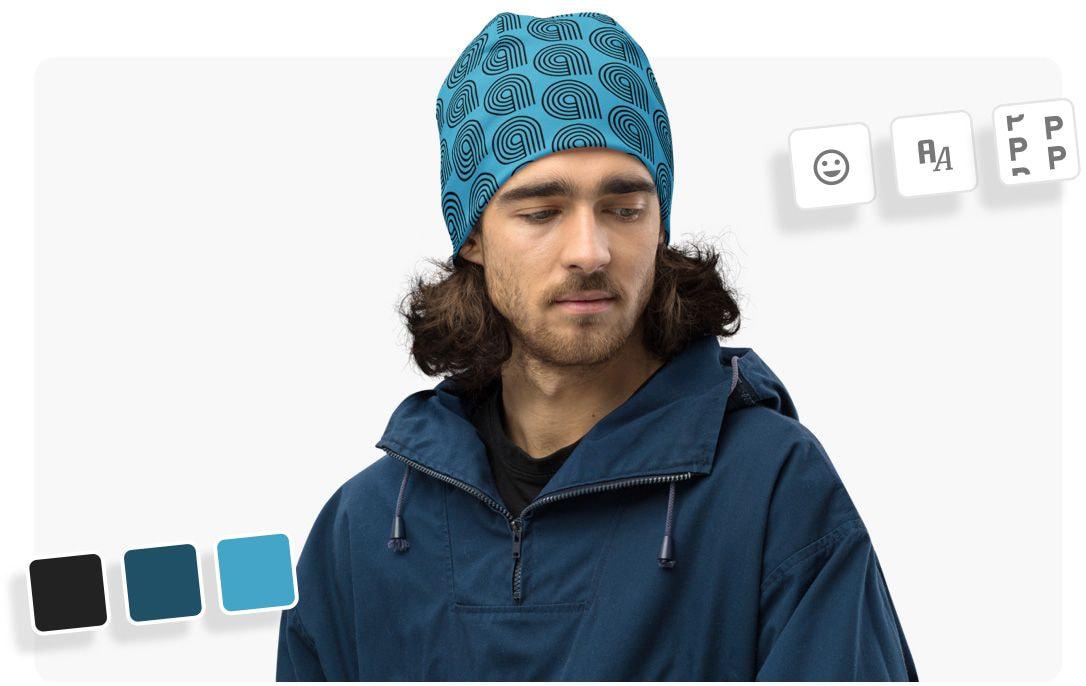 Couleurs et motifs pour bonnets imprimés all-over