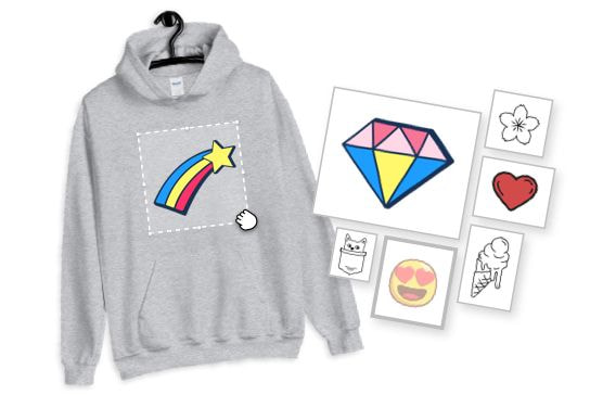 clipart for personalised hoodies
