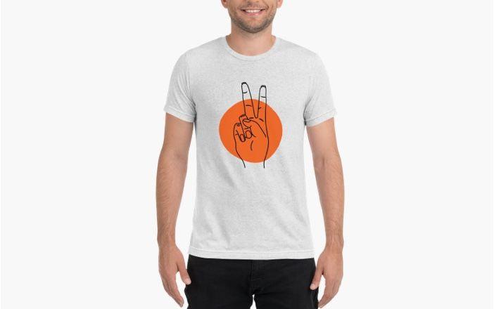 T-shirt tri-blend unisex | Bella + Canvas 3413