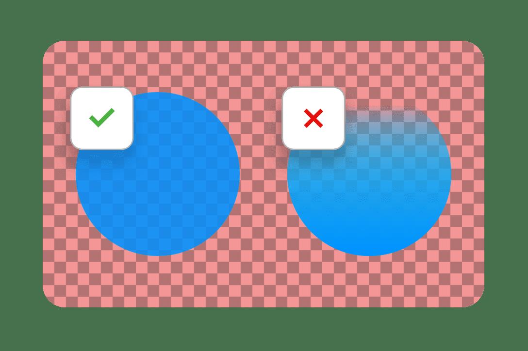 Add transparent elements, but not transparent gradients