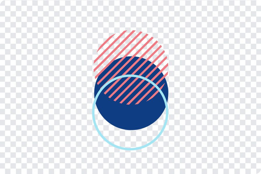 unique design with a transparent background