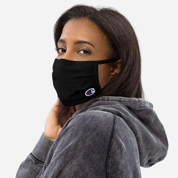 black Champion face mask