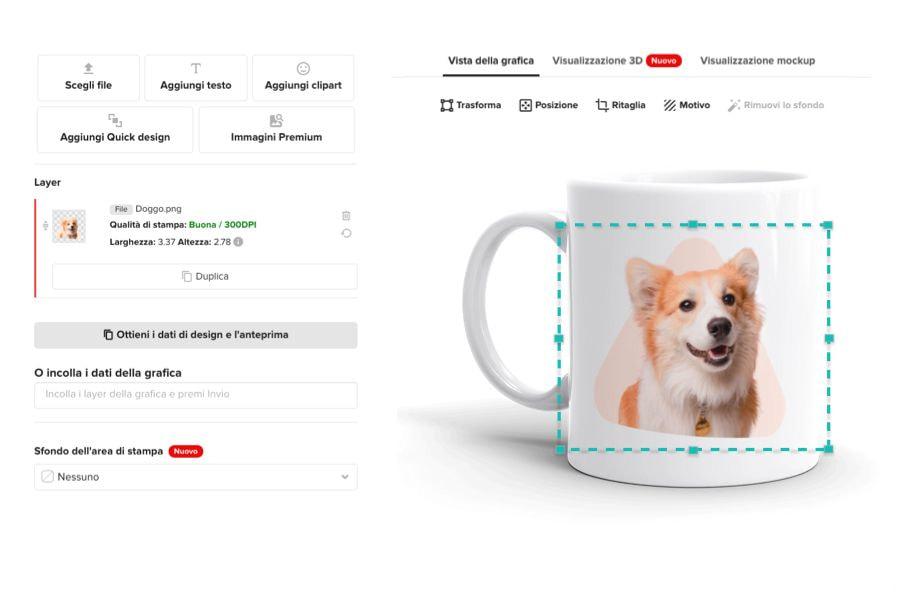 crea regali con foto con il Design Maker