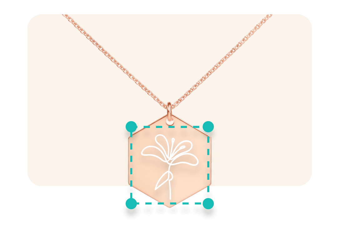 necklace with engraved design