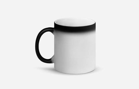 personalized matte black magic mug
