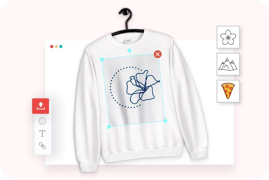 créer un chandail original avec le créateur de design