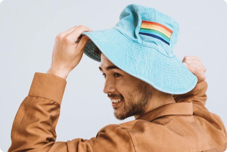 custom embroidery bucket hat