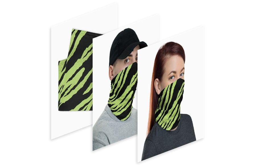 face coverings mockups