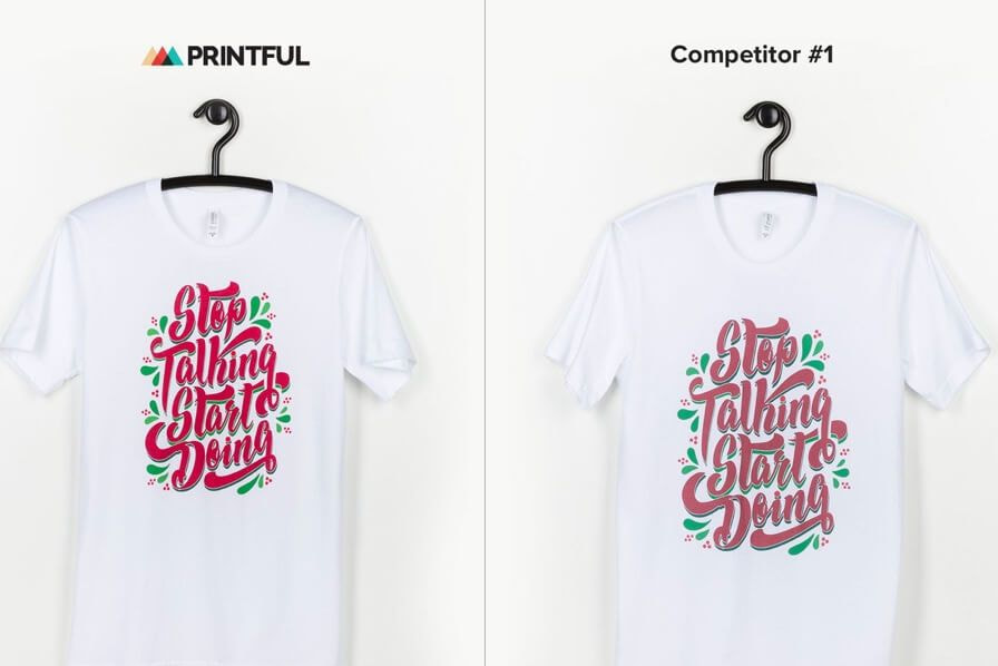 Printful printing quality compared to other competitors