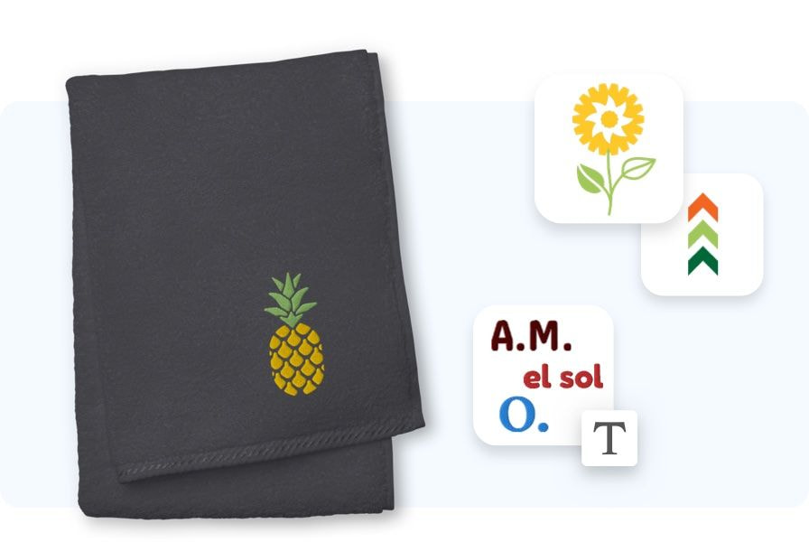 toalla personalizada bordada