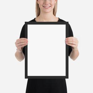 framed matte print
