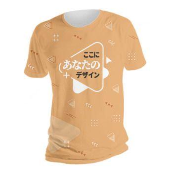 全面プリントTシャツ/トップス