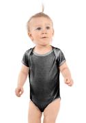Baby Toddler T-Shirt Mockup Plain White Background Romper Unisex One Piece Light Blue Rabbit Skins 4400