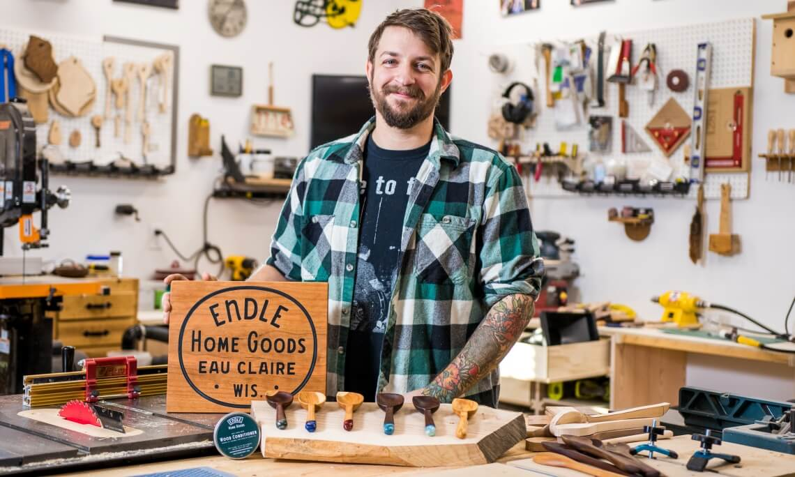 Getting the Word Out: How Nick's Wood Shop Uses Apparel to Market Handmade Goods