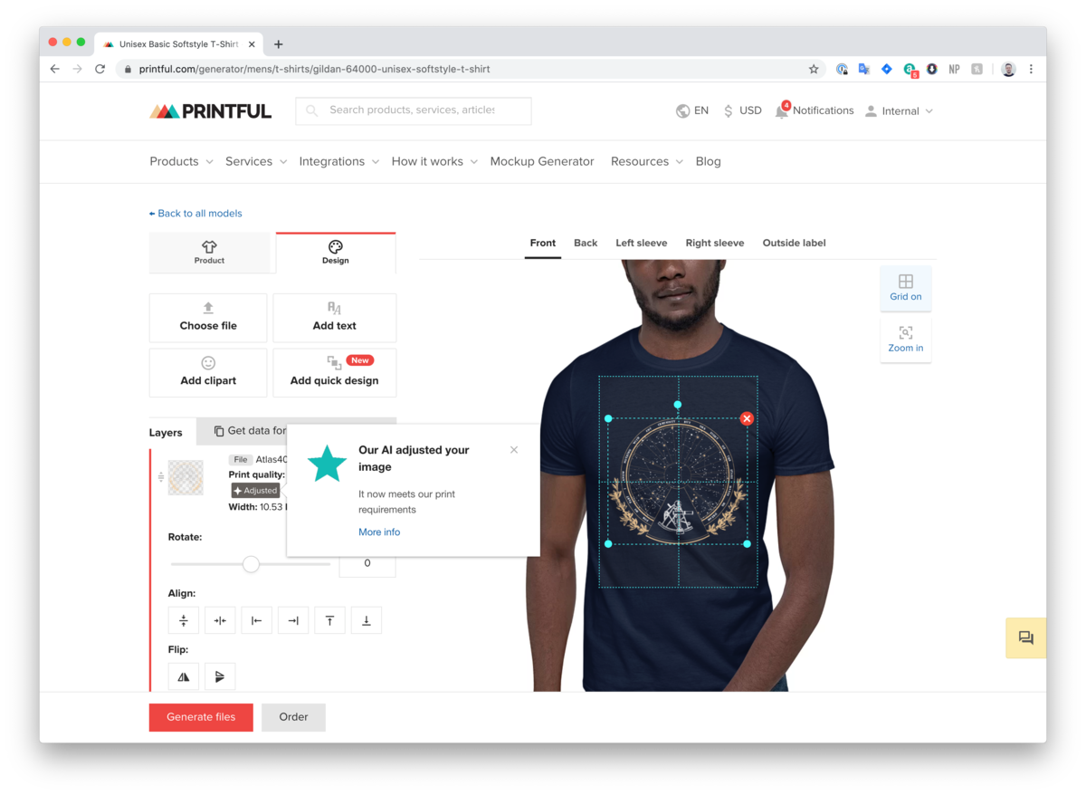Printful's Customer Orders Increase with the New AI Image Upscaler