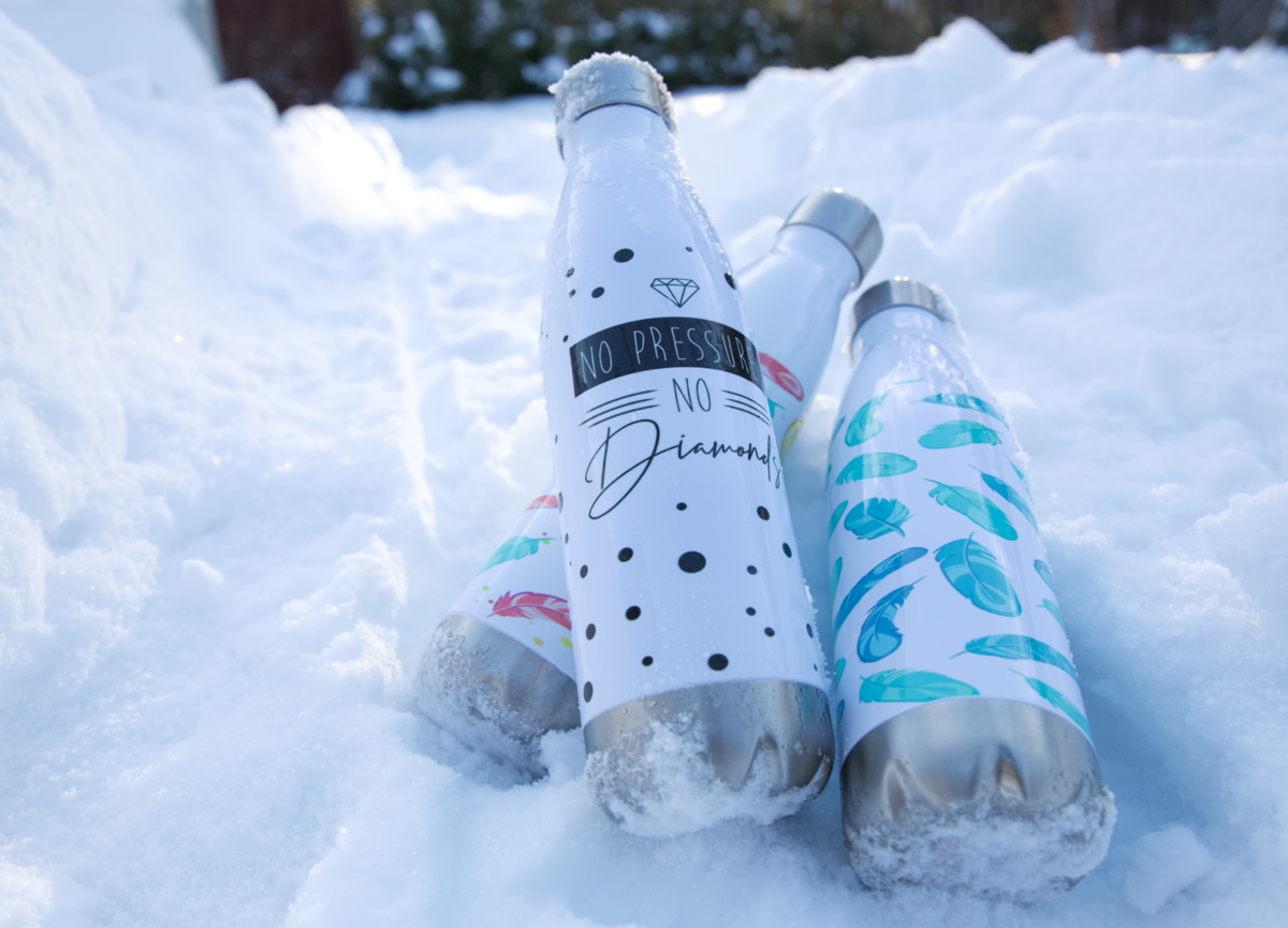 Printful offers customizable stainless steel water bottles