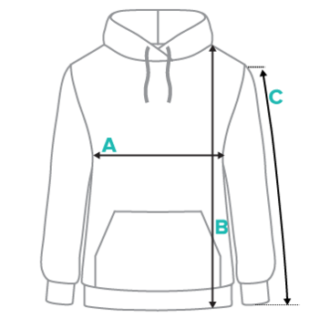 Hoodie sizing measurements